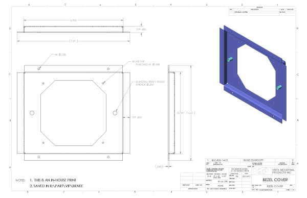 How To Read A Manufacturing Drawing Vista Industrial