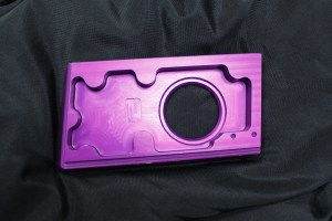 purple anodize aluminum part