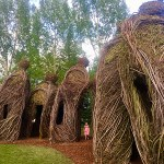 Patrick Dougherty sculptures in Betty Ford Alpine Gardens.
