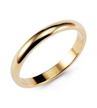 Classic 14k Yellow Gold Wedding Ring Anniversary Band ...