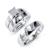 The most beautiful wedding rings: Wedding ring trio set