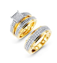 Bridal Sets: Gold Bridal Sets Diamond Wedding Rings
