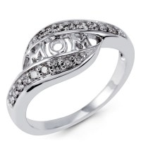 White Gold Mothers Rings
