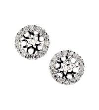Diamond Earring Jackets White Gold Luxury Yellow Gold ...