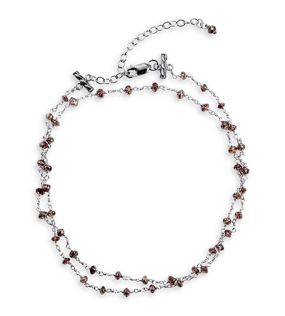 "14K White Gold 5.65ct Chocolate Diamond 16"" Necklace"