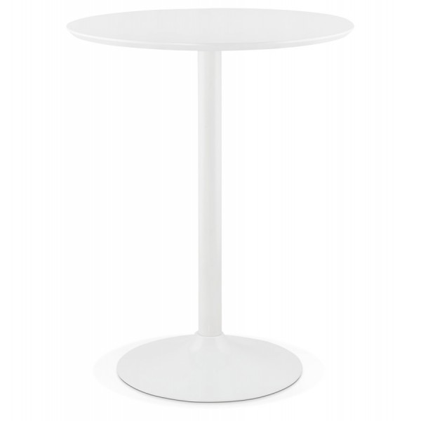 table haute ou mange debout blanc de forme ronde staan
