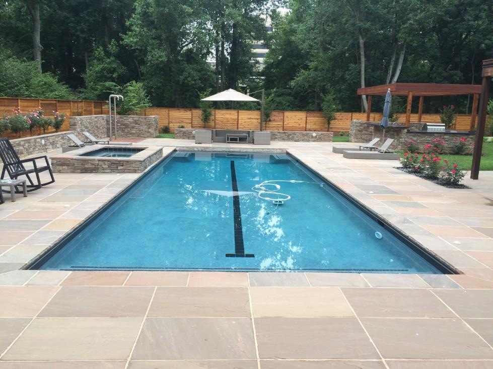 pool patio design installation in