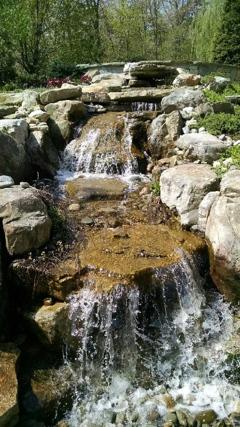 Waterfall Landscape Design  Installation in Annapolis MD  VistaPro Landscape  Design
