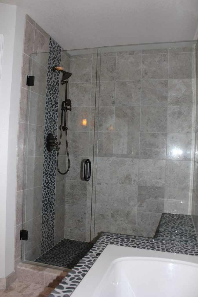 Grey Marble Bathroom  Littleton CO  Vista Remodeling