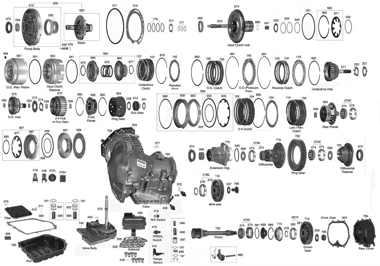 604 Transmission Parts Diagram Vista Transmission Parts