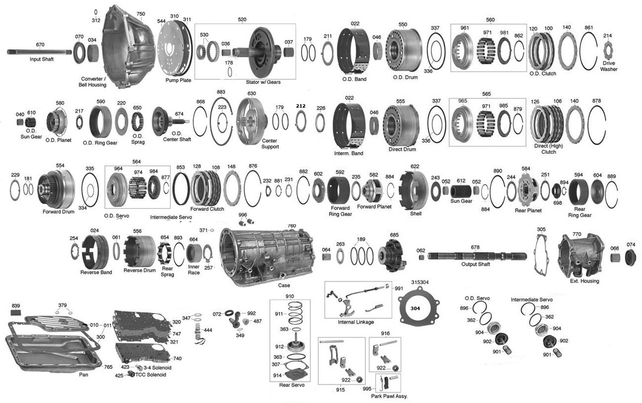A4ld Transmission Parts Diagram Vista Transmission Parts