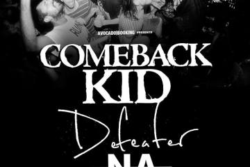 Comeback Kid au Petit Bain avec Defeater, Negative Approach et Giants.