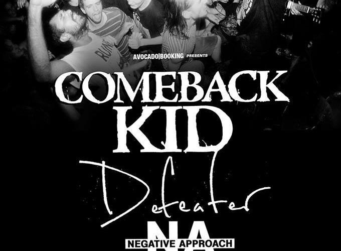 Comeback Kid au Petit Bain avec Defeater, Negative Approach et Giants.