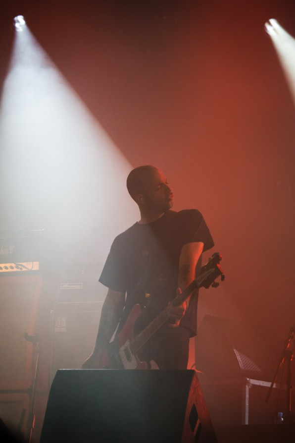 Jonathan Nuñez avec Torche au Hellfest le 18 juin 2016