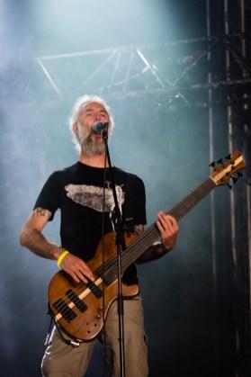 Sylvain de Stonebirds au Hellfest le 19 juin 2016.