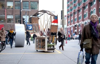 Matthew THomson - Collector (Ste-Catherine and Guy), mixed media construction, 2012-2013 (ongoing)