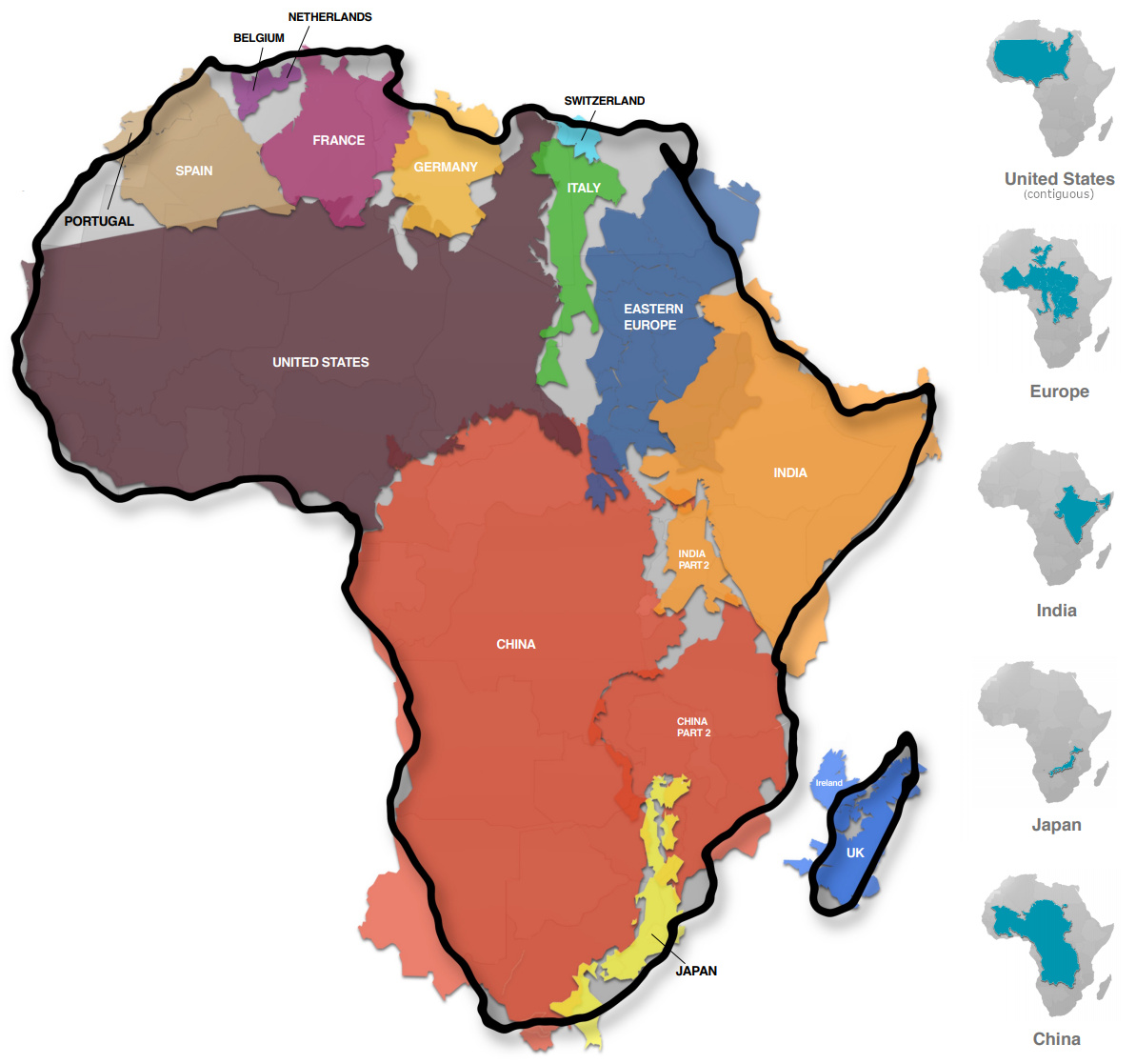 Mapped Visualizing The True Size Of Africa