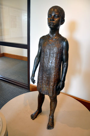 Statue Depicting Booker T. Washington as a Slave Child