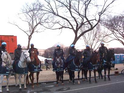 Park police on their horses