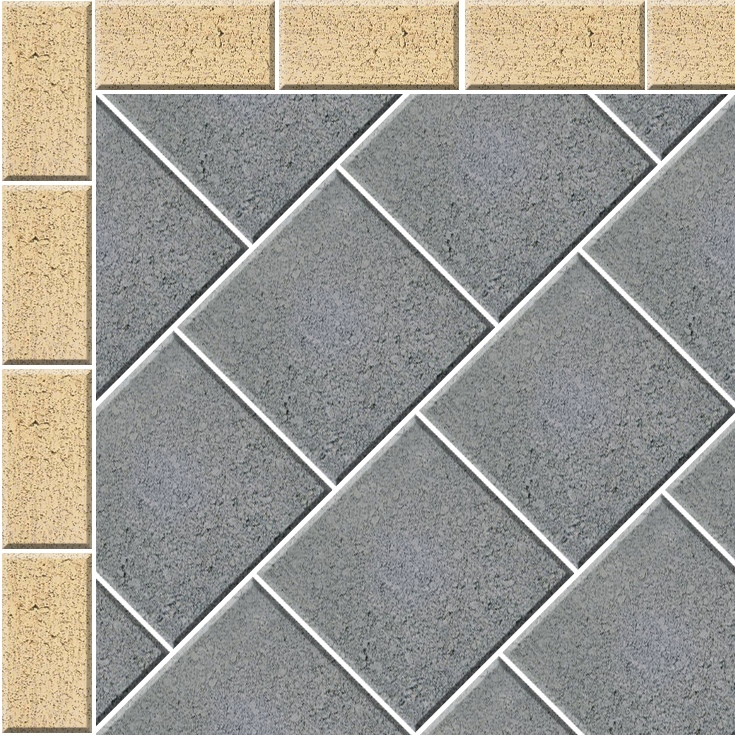 Stretcher 45 Paving Pattern