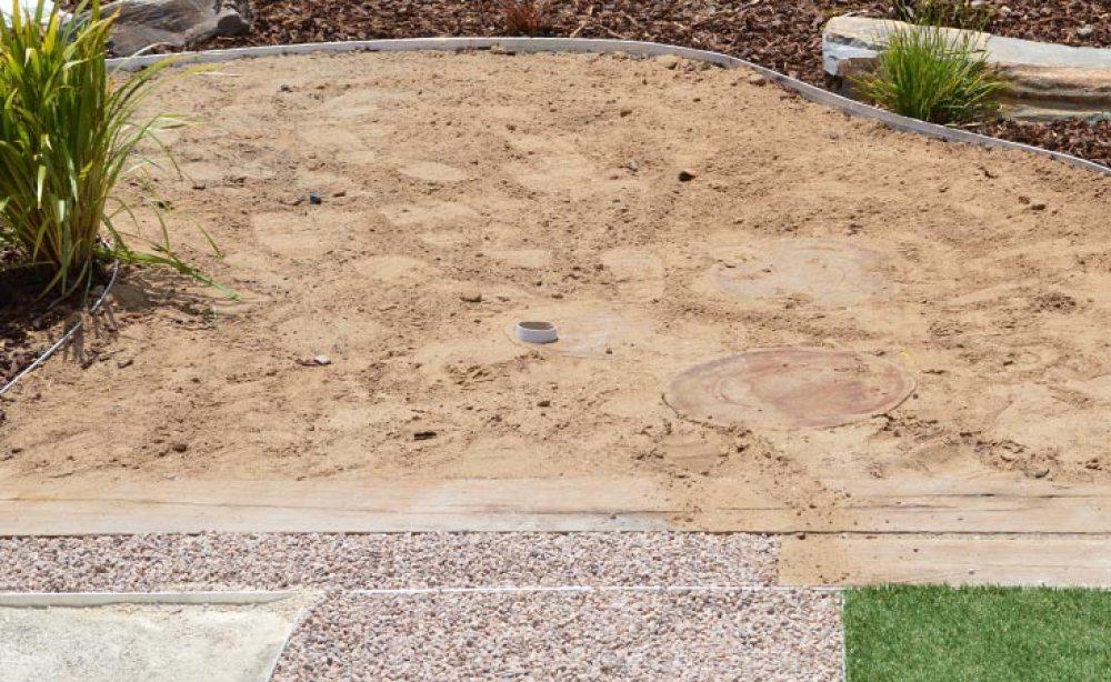 Sand Pit Drain Installation