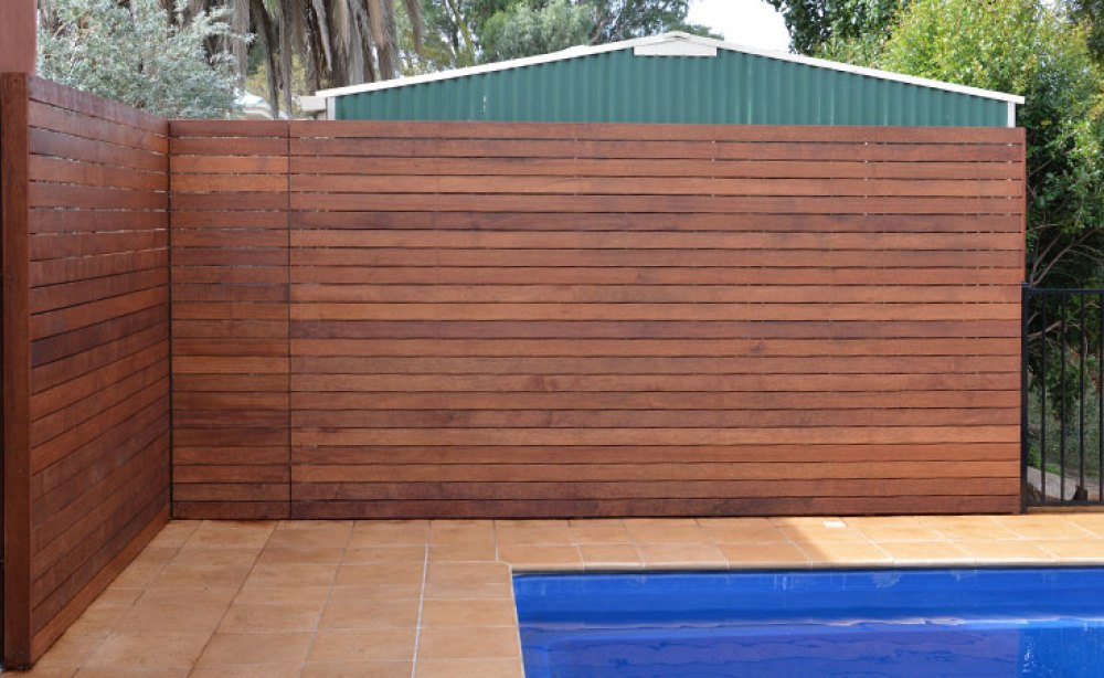 Hardwood Timber Screen Wall