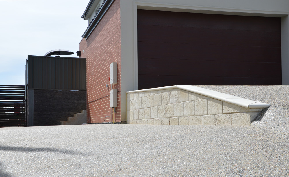 Exposed Aggregate Driveway | New Home Landscaping