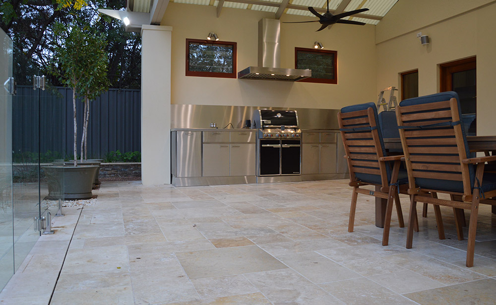 Paving Under A Verandah | Paving And Landscaping Adelaide