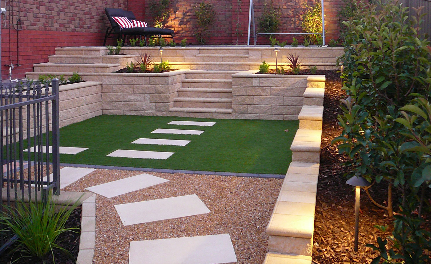 Landscapers | Sloping Back Garden Makeover Using Retaining Walls