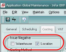 It's the little things…Preventing Negative Inventory in VISUAL 7