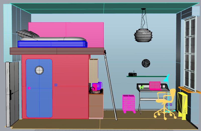 3d Interior Design Visualizations Work In Progress Logo Graphic