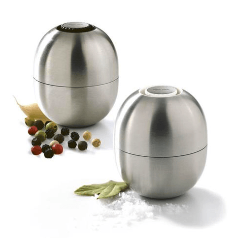 Piet Hein super-egg salt and pepper