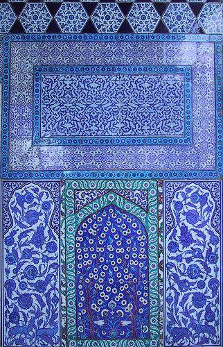 Blue tilework, Topkapı Palace, Istanbul