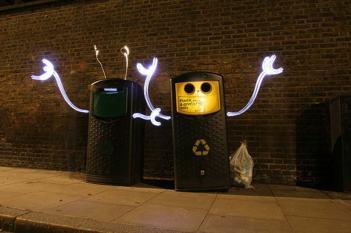 bin light graffiti