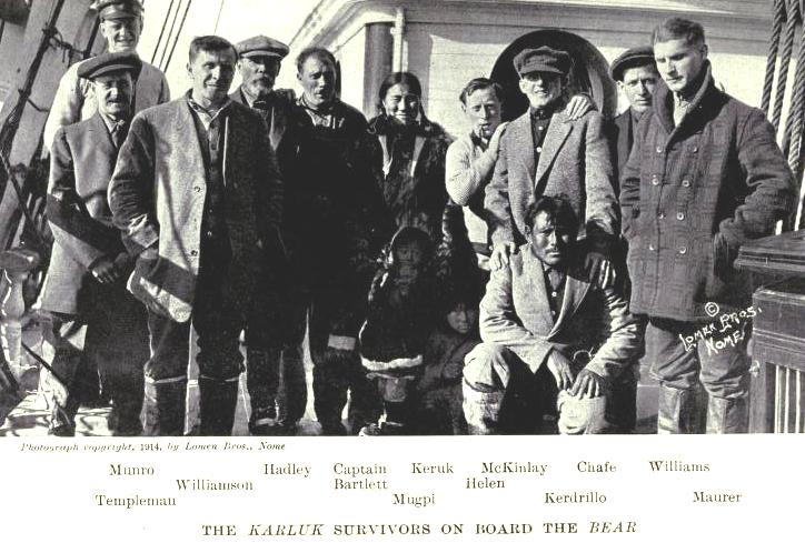 Some of the survivors of the Karluk
