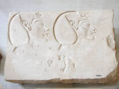 Sculptor's trial piece of Akhenaten