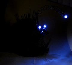 Anglerfish sculpture: upcycled scrap metal