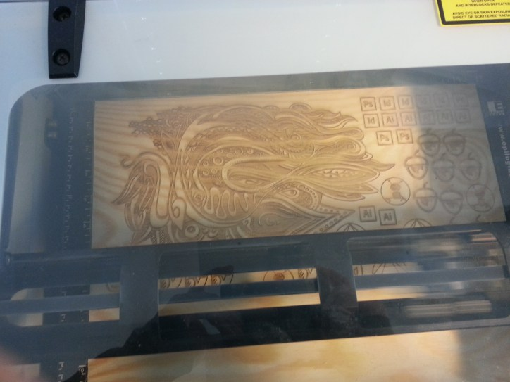 plywood in the laser cutter