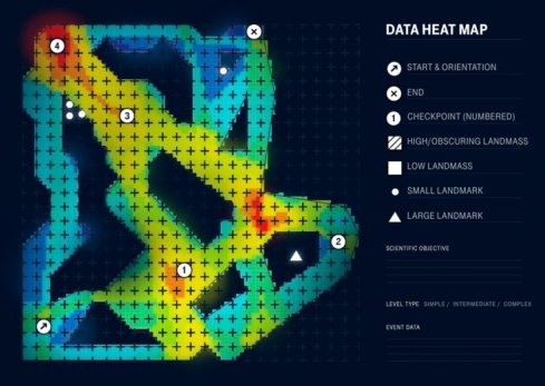 heatmap generated by sea hero quest