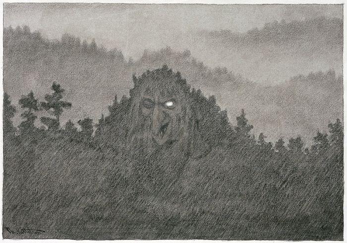 Forest troll – Kittelsen