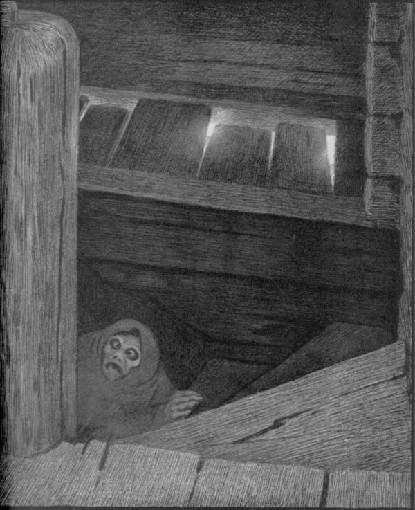 Pesta on the stairs – Kittelsen