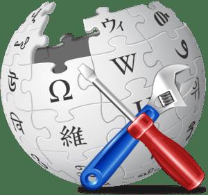Wikipedia globe with tools