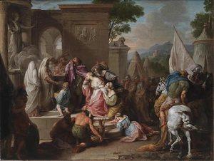 Girolamo Pompeo, Batoni Sacrificio di Ifigenia, olio su tela, cm 43,3×57,5, Roma, Collezione privata