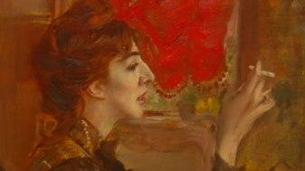 Giovanni Boldini. Il piacere. Story of the Artist (video still) La tenda rossa