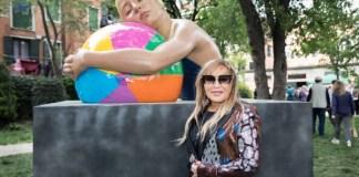 Monumental Brooke whith Beach Ball and Carole A. Feuerman