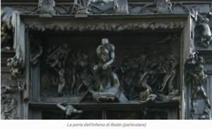 Rodin Porta dell'infermo particolare