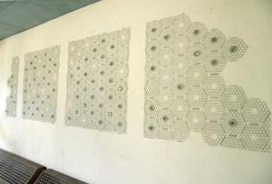 Marta Allegri Disabitate installazione work in progress, rete metallica, novembre 2015 Colonia, Alloggi delle religiose