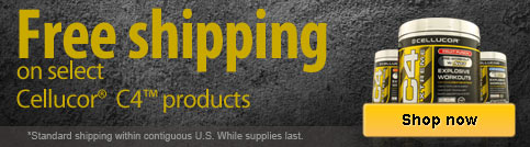 Free shipping on select Cellucor C4
