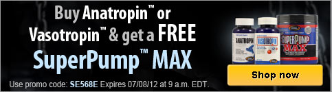 Free SuperPump MAX with qualifying purchase