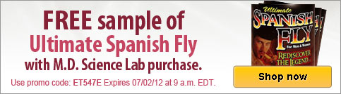 Free sample of Ultimate Spanish Fly with qualifying purchase